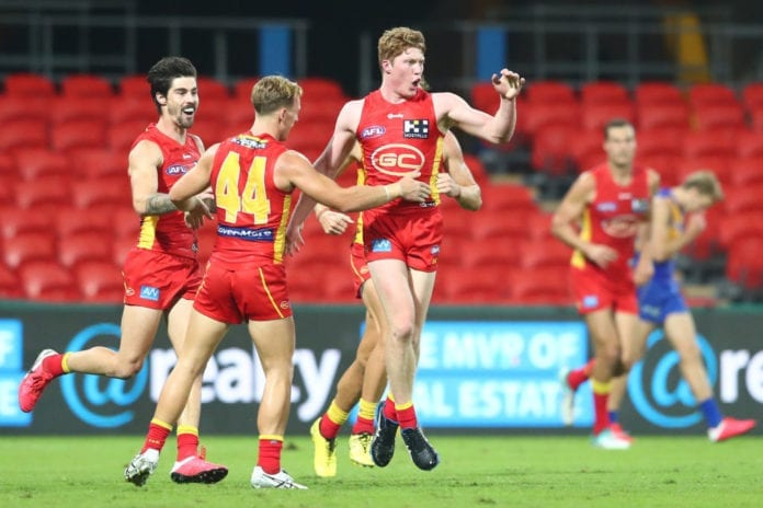 AFL Rd 2 - Gold Coast v West Coast